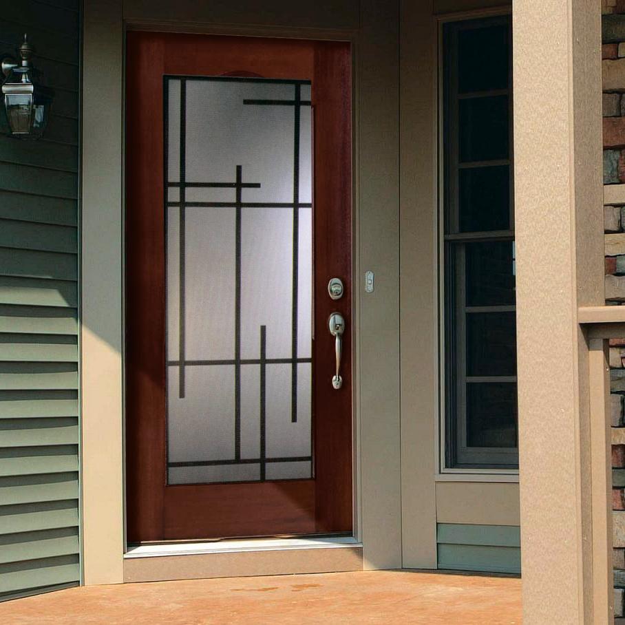 Decorative door glass Serena