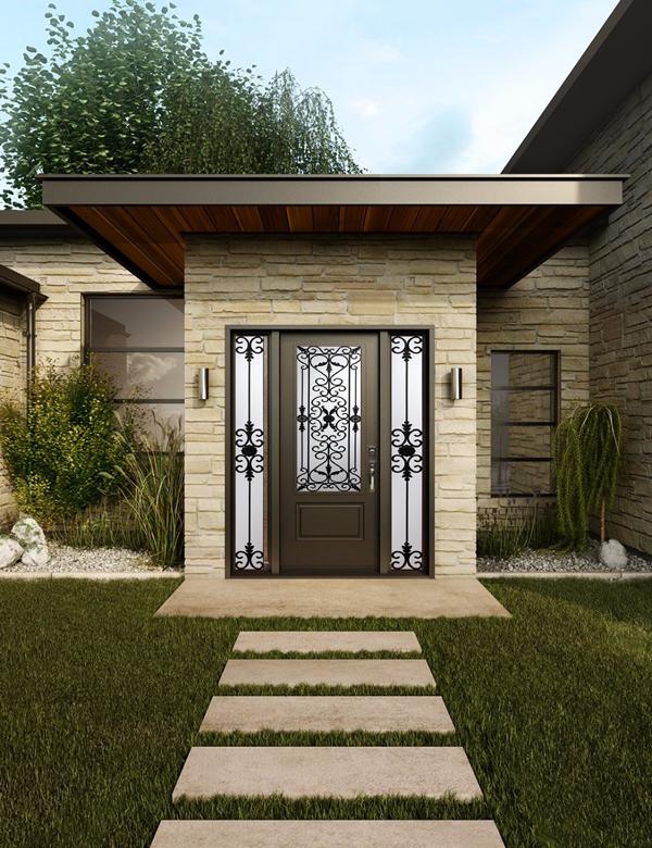 Decorative door glass Grand View